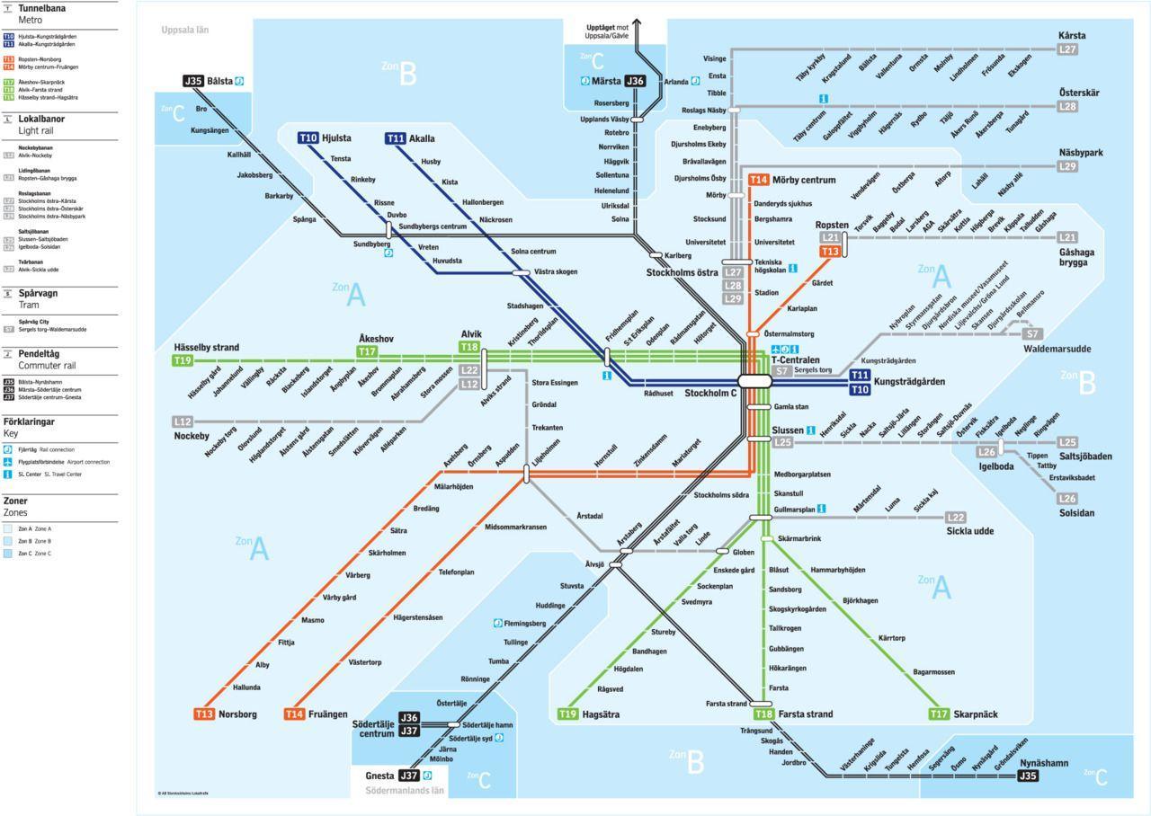 Stockholm central station map - Stockholm central train station map ...