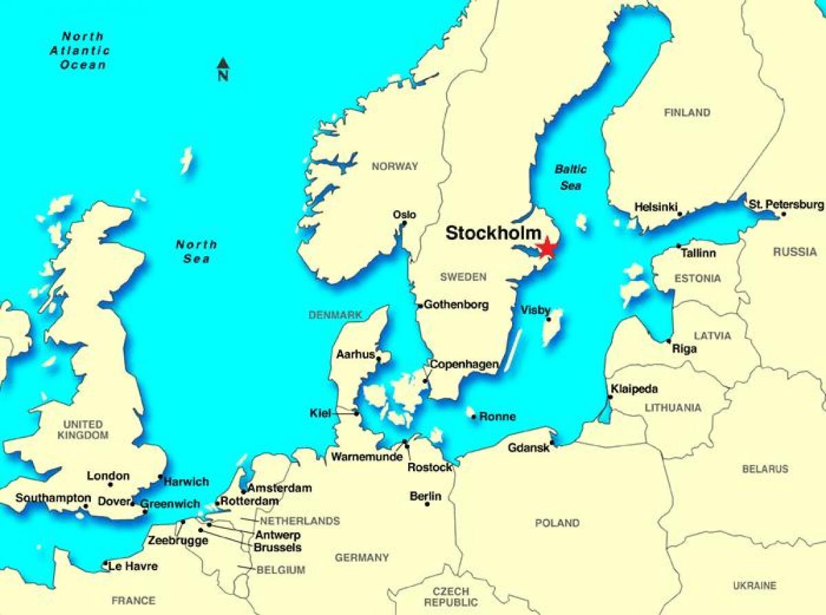 Stockholm Sweden Map Stockholm Map Europe Sodermanland And