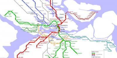 Sl map Stockholm - Sl train map (Södermanland and Uppland - Sweden)